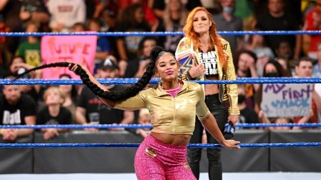 Becky Lynch e Bianca Belair no SmackDown