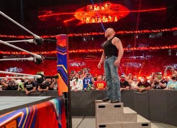 Brock Lesnar em seu retorno no SummerSlam