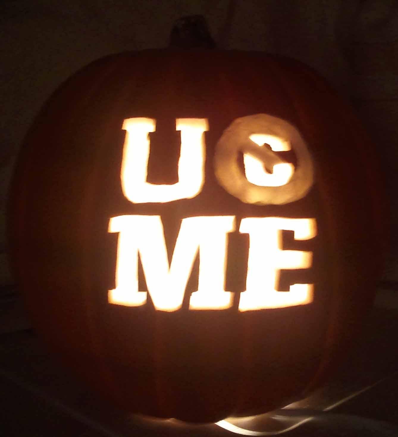 Stencils Wrestling Pumpkin