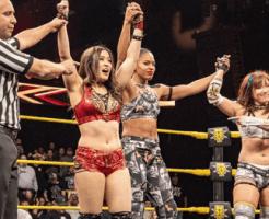 WWE紫雷イオがNXT女子王者ベイズラーからピンフォールを奪った