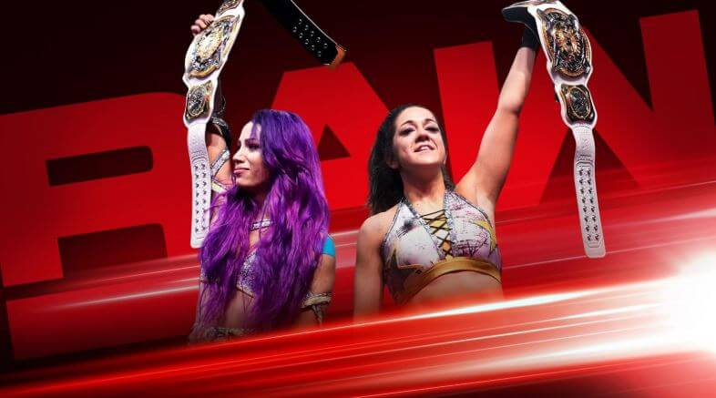 Watch WWE Raw 2/18/19 results, February 18, 2019: On Sunday night, Sasha Banks & Bayley made history by becoming the first-ever WWE Women's Tag Team