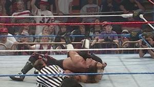 WWF World Champion HBK retaining the title over HHH.