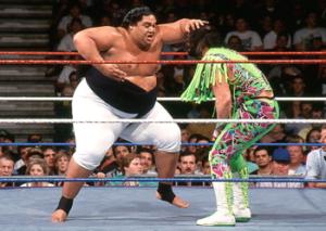 Yokozuna in action against Randy Savage.