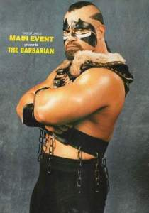 The first challenger for the WCW World Heavyweight Championship, the Barbarian.
