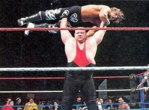 Vader press slamming Shawn Michaels