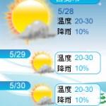 【部落格小玩意】三日天氣預報-冬天