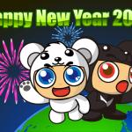 減碳雙熊祝大家2010 新年快樂
