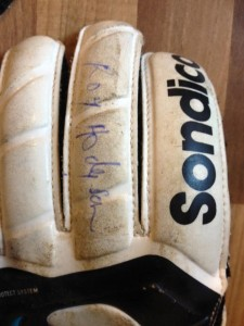 U12 Warriors GK Leon's gloves, now with Hodgson reinforced fingers!