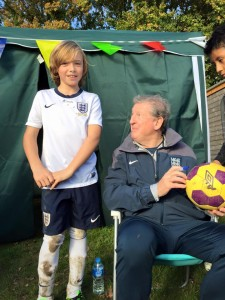 Ethan (U11 Dinamo) and Roy Hodgson
