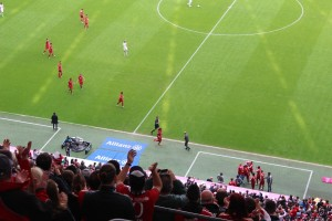 Pep Leaves His Technical Area To Join the Celebrations