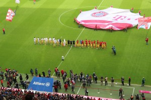 Bayern and Frankfurt Line Up