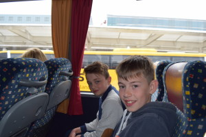 Likely Lads: Jack and Marc Aboard the Coach at Munich Airport