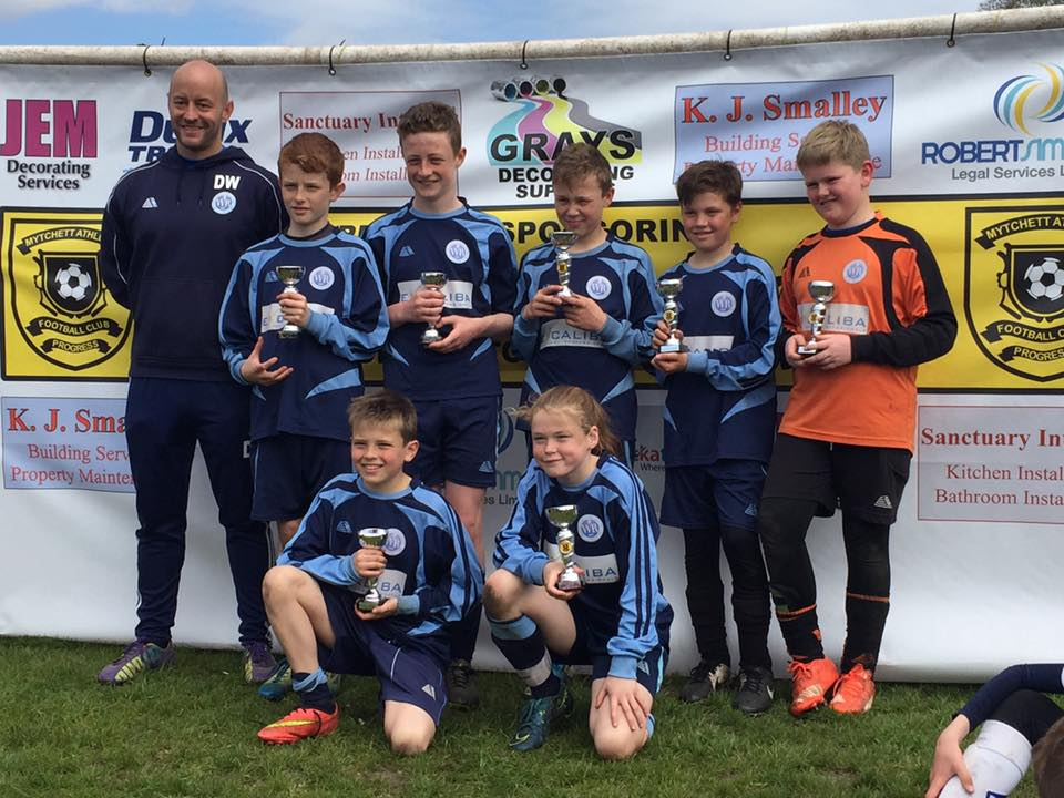 U12 Warriors: Runners Up in the Plate Competition at Mytchett Athletic's Tournament
