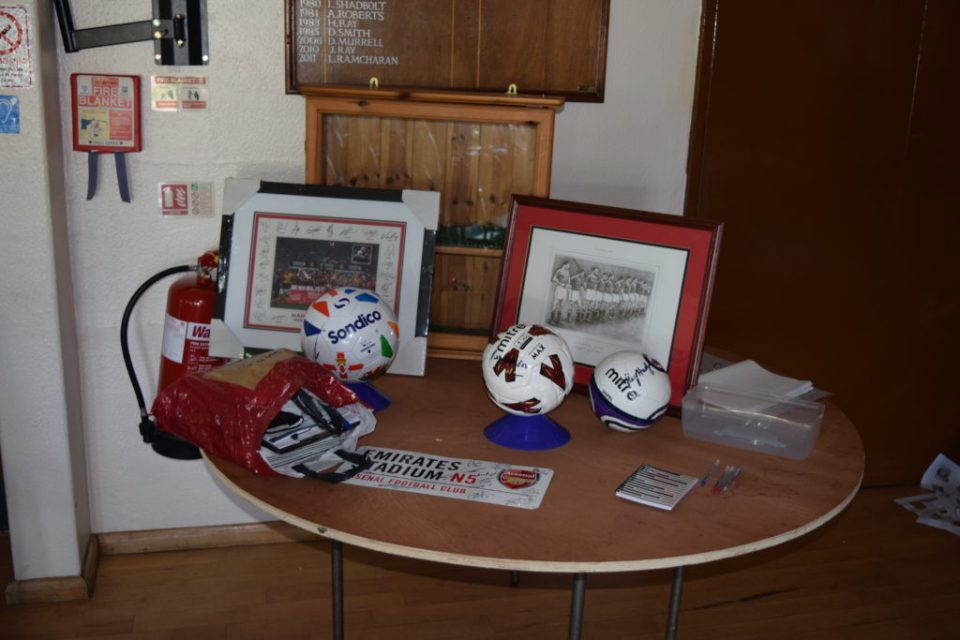 Some of the Football Memorabilia Silent Auction Items