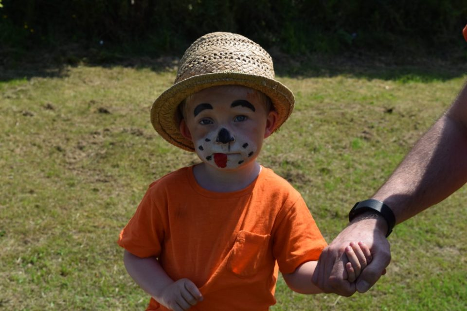 Thanks to Anna and the U7s for Face Painting - This Young Man Got In Early!