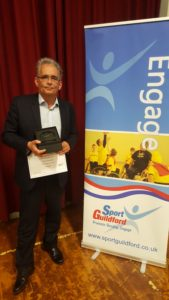 Peter Wins The Guildford Sports Award 2016 'Volunteer of the Year'