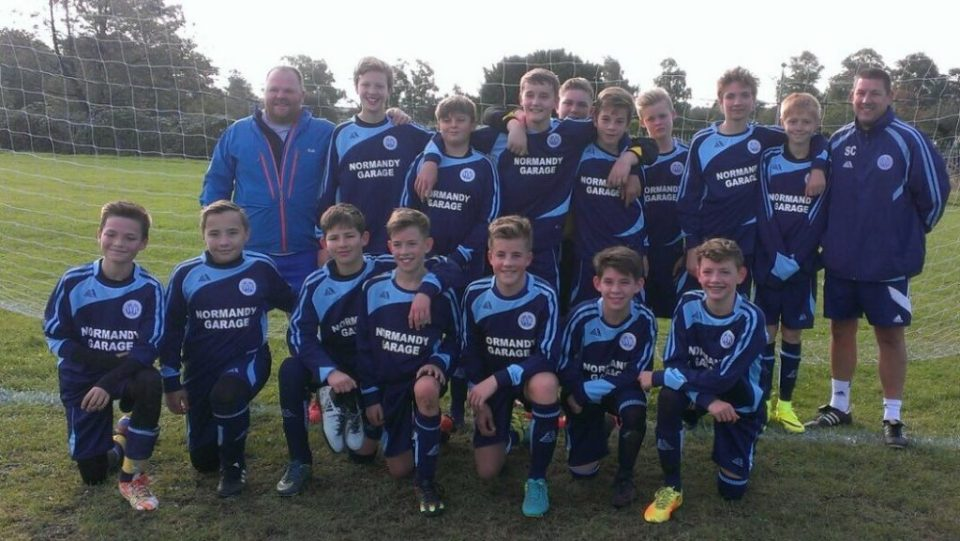 The Club's Newly-Launched U14 Lions, With Coach Phil Gaff and Manager, Sean Crooke