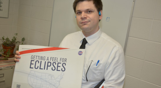 Experiencing the eclipse without sight
