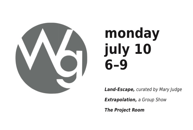 Land-Escapes, curated by Mary Judge The Project Room Extrapolations, a group show