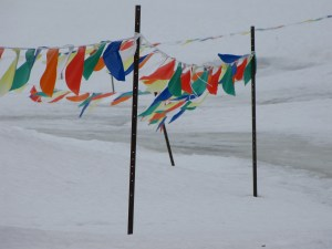 Flags at Deerhurst