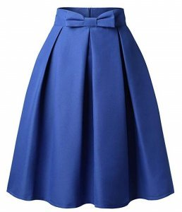 Pleated Midi Skirt | high waisted front