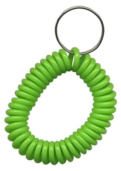 Lime Green wrist coil key chains
