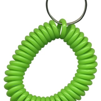 Lime Green wrist coil key chains