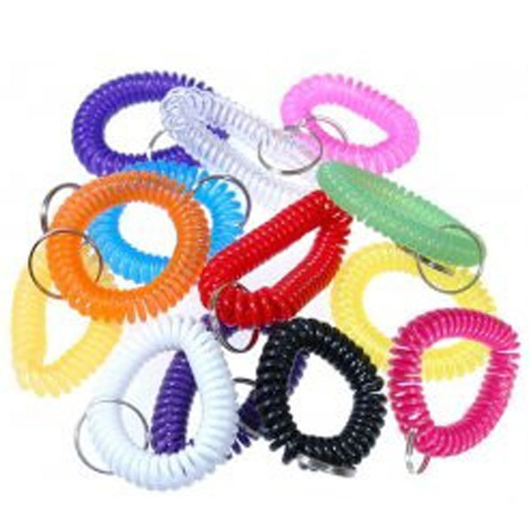wrist coil keychain assorted colors