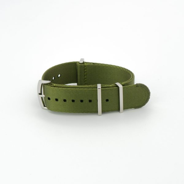 Fatigue-Green-steel-wrist-hardware-nylon-watch-strap-military-polyamide-fabric-replacement-band