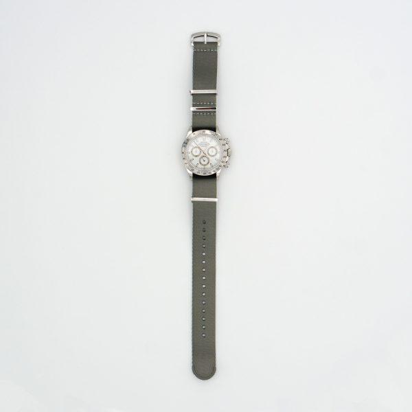 Seal-Gray-watch-strap-wrist-hardware-Loops-solid-steel-wrist-hardware-nylon-watch-strap-military-polyamide-fabric-replacement-band-Wrist-hardware-nylon-watch-strap-polyamide-fabric-replacement-band-military-watch-strap-22mm-20mm-316L-stainless-steel-buckle-daytona
