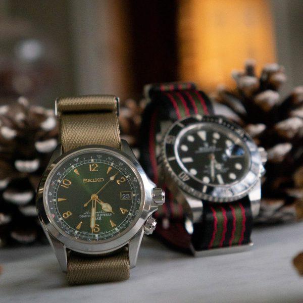 Vintage-bond-khaki-straps-wrist-hardware-nylon-watch-strap