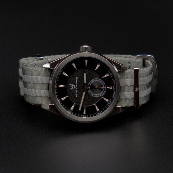 Wrist-hardware-paramo-watch-rally-stripes-nylon--military-strap-black-dial-rally-stripes-strap-military-watch-strap-316L-stainless-steel-nylon-band-strap