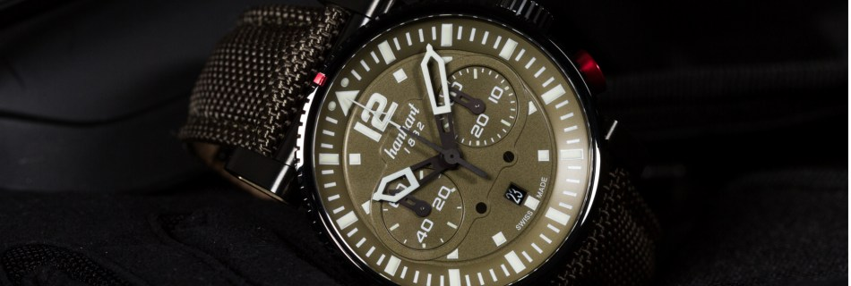 The Limited Edition Hanhart Primus Black Ops Pilot Watch