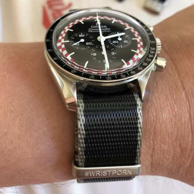 Omega Speedmaster TinTin perfectly paired with the #WRISTPORN Nato Strap by @l888der