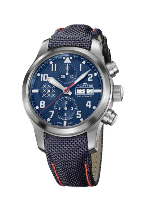 PC-7 TEAM AEROMASTER EDITION_Chronograph_on_Royal_Blue_Cordura_Performance_Strap-1