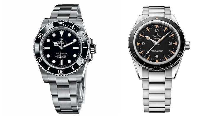 Clash of The Divers Rolex Submariner Watch vs Omega Seamaster 300 Master Co-Axial Watch