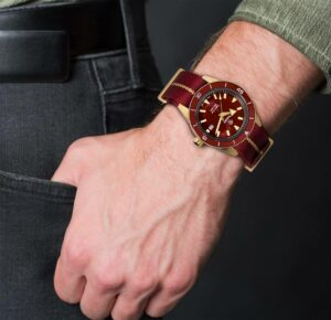 Rado Captain Cook Bronze Burgundy Automatic Watch