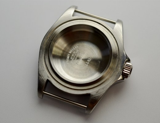 Empty watch case