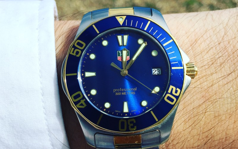 TAG Heuer WAB1120 compared to Aquaracer 500m Automatic
