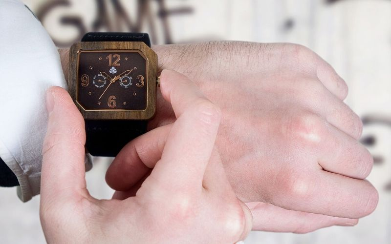 Leafwood wooden watch