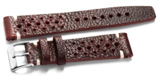 cheapest-nato-straps-Grand_Prix_racing_vintage_watch_band_Burgundy_dark_red_leather