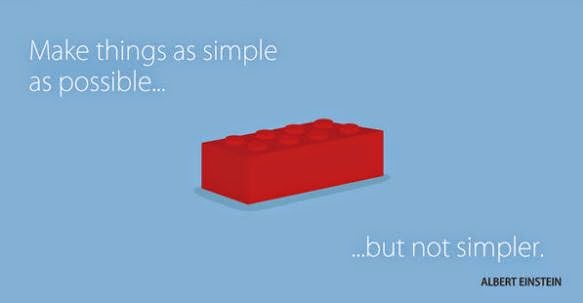Image, Infographic of Albert Einstein quote: 'Make things as simple as possible... but not simpler.'