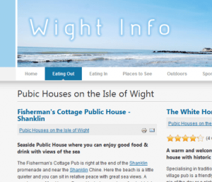 Image, website with spelling mistake showing pubic instead of public.