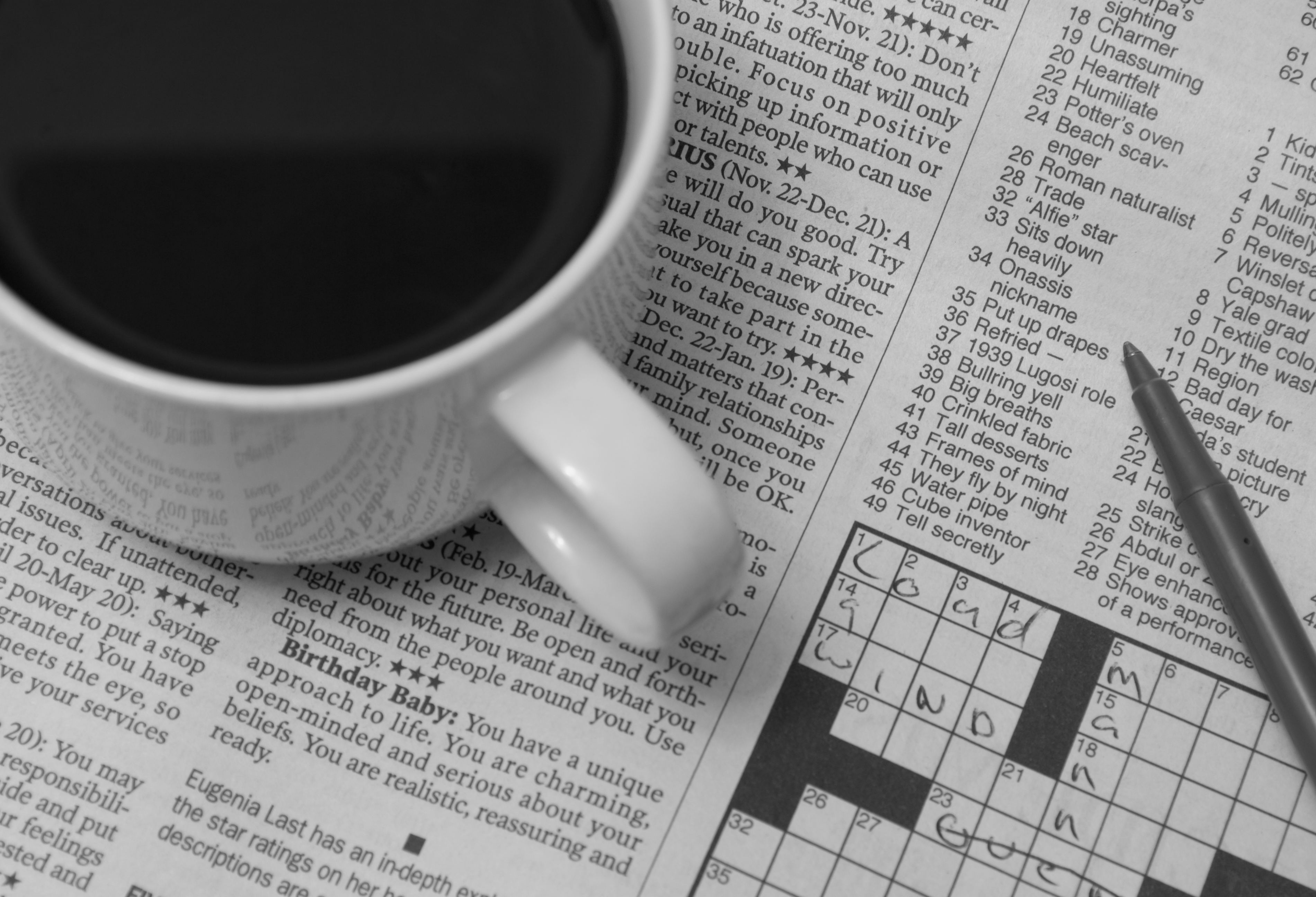 Coffee was made and the crossword was done. (Image by Randy Auschrat (CC BY-ND 2.0))