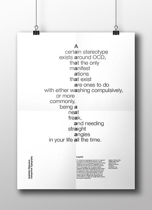 Image, Obsessive Compulsive typography by Nina Weil.