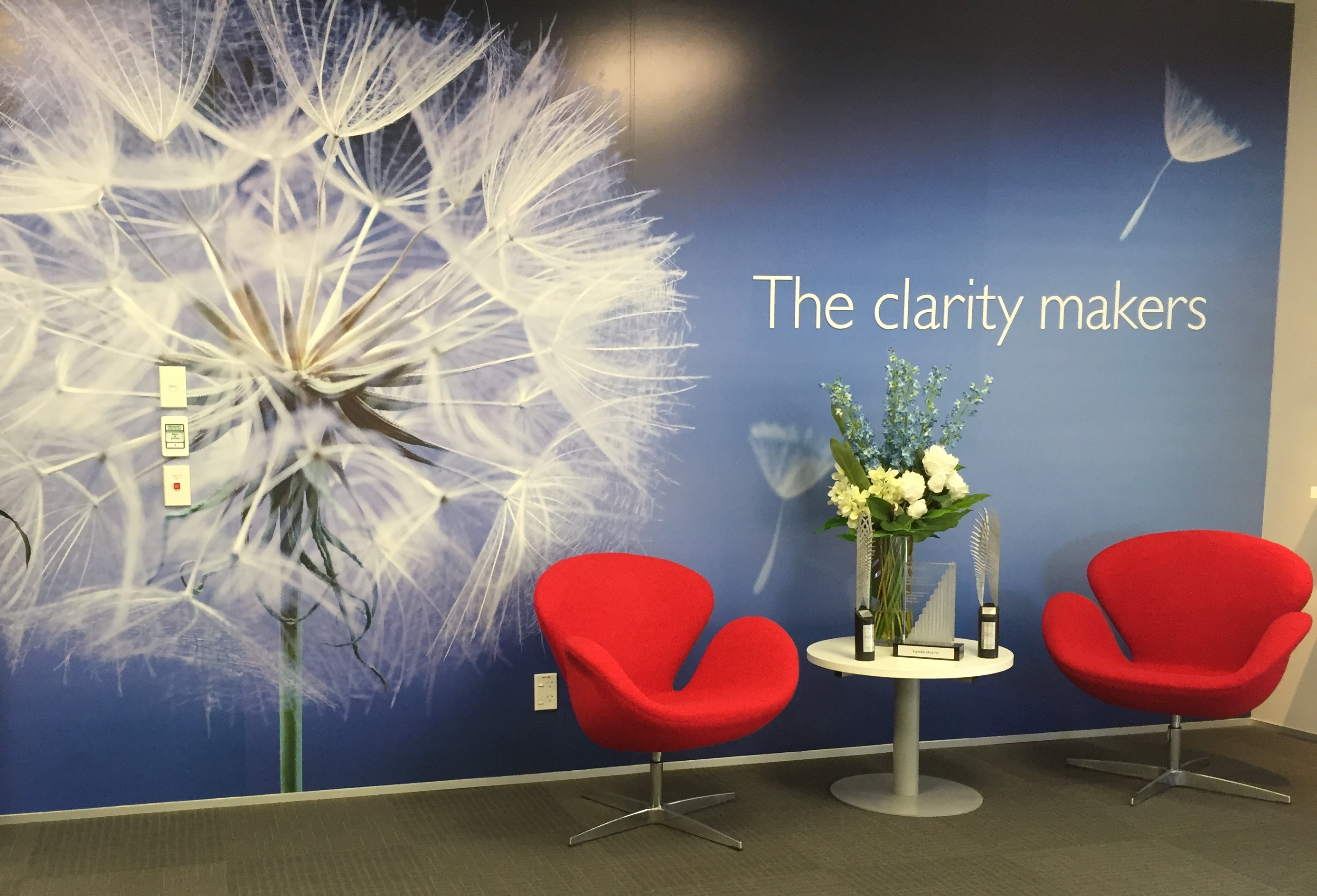 Image, Our 'clarity maker' wall at Write Ltd.