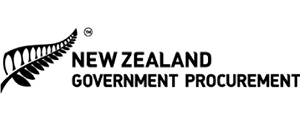 Image of logo, links to New Zealand Government Procurement website.