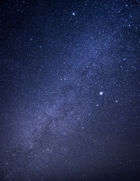 Image, arm of the milky way with starry sky