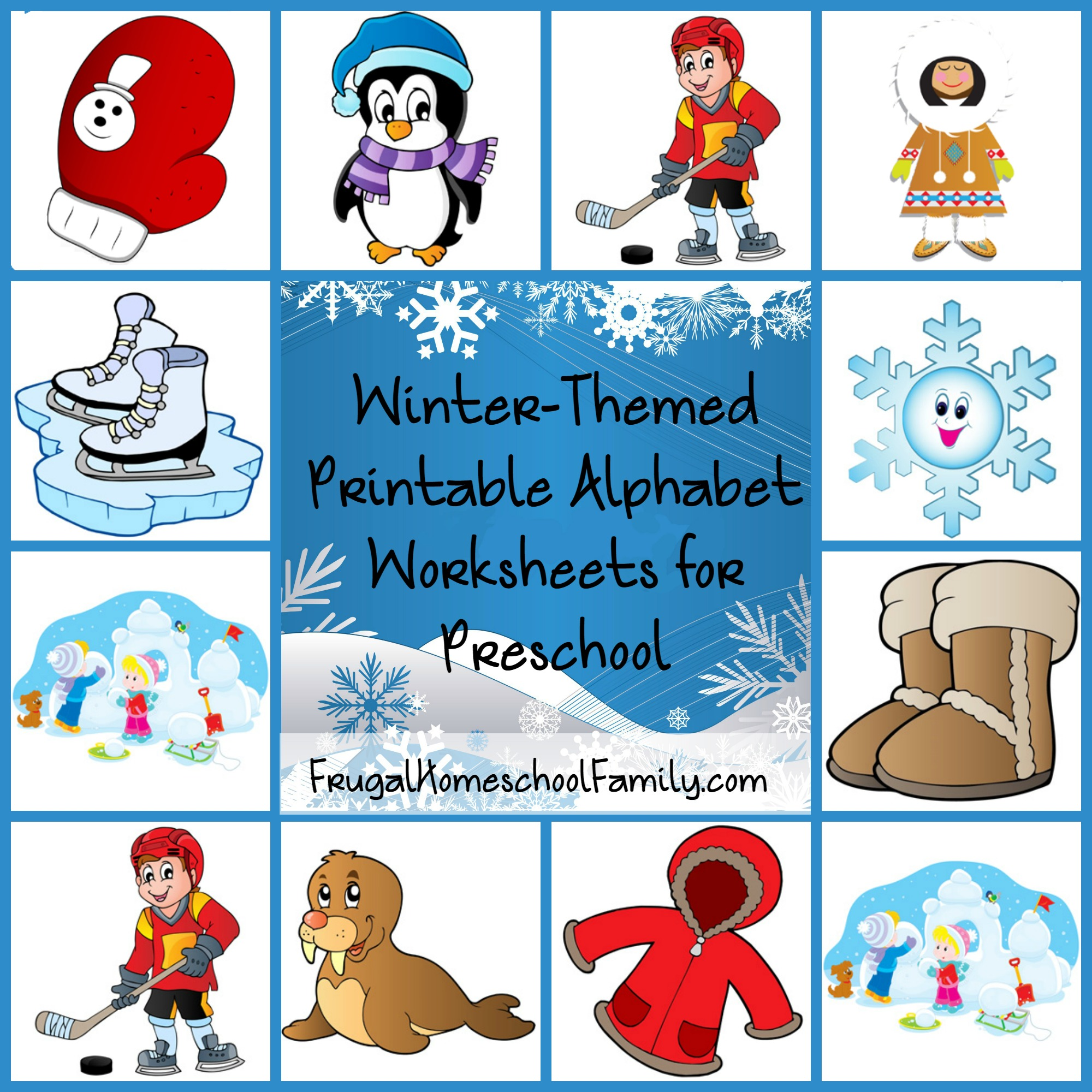 Free Winter Themed Printable Alphabet Worksheets For