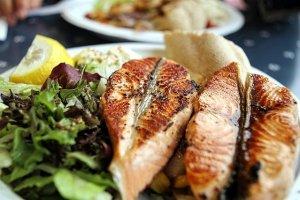 Salmon keto dinner